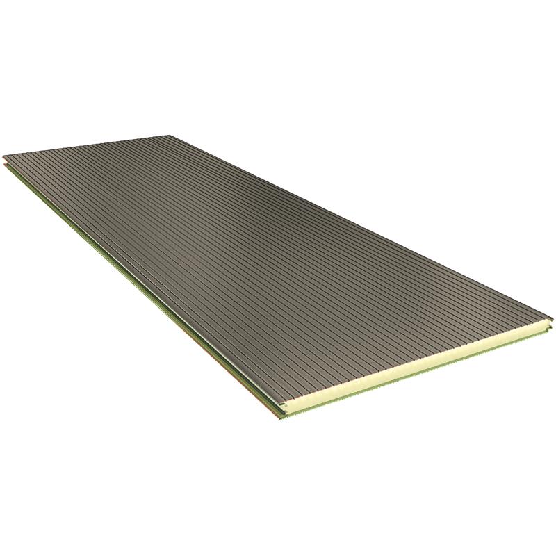PGB 100 mm - nástěnné panely, viditelné upevnění RAL 9002