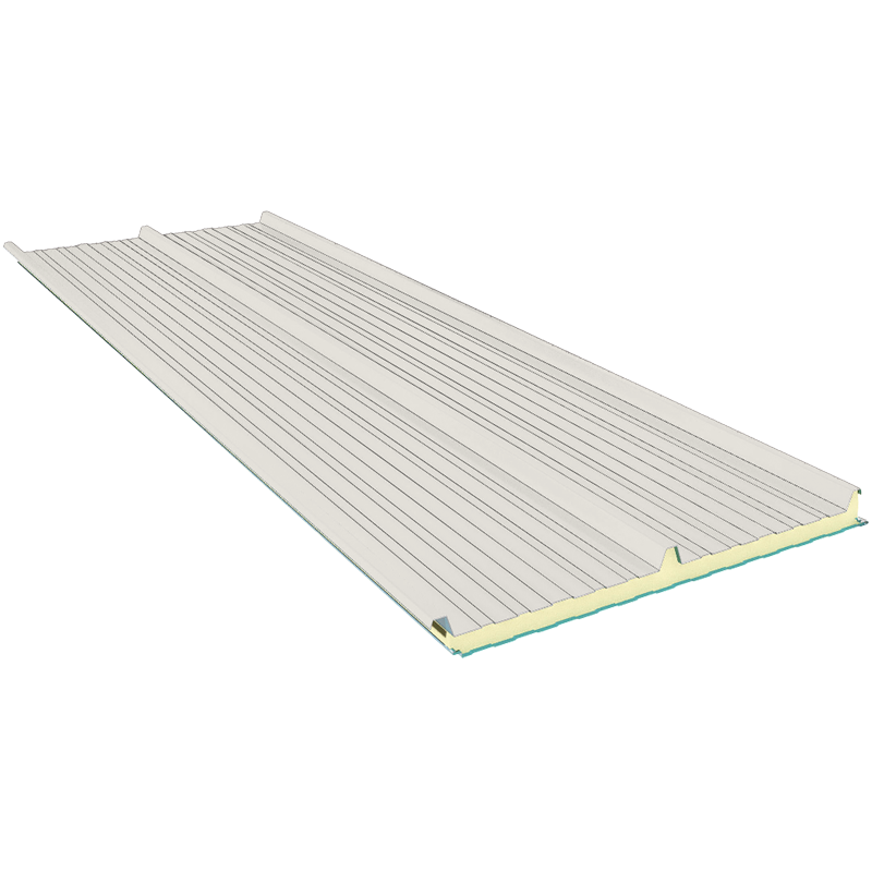 G3 140 mm, střešní sendvičové panely RAL 9002