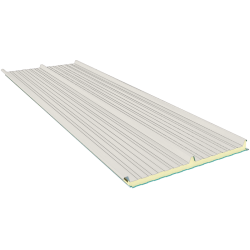G3 80 mm, střešní sendvičové panely RAL 9002