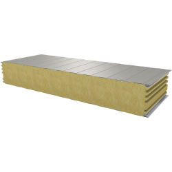 PWS-W - 180 MM, Wall panels, mineral wool RAL 9002