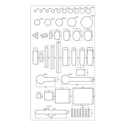 Mögliche Formen von Bohrlöchern in Profilen.