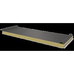PWD-W - 60 MM, панели крыши, минеральная вата RAL 9007