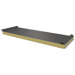 PWD-W - 60 MM, Roof panels, mineral wool RAL 9007