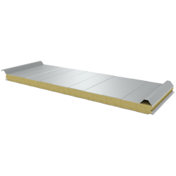 PWD-W - 60 MM, Roof panels, mineral wool RAL 9010