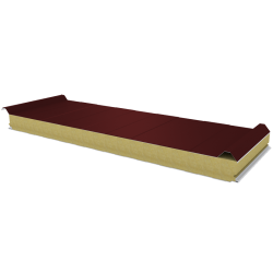 PWD-W - 75 MM, Roof panels, mineral wool RAL 3009