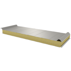 PWD-W - 75 MM, střešní panely, minerální vlna RAL 9002