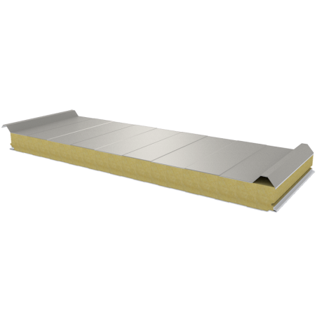 PWD-W - 75 MM, Roof panels, mineral wool RAL 9002