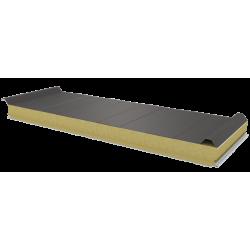 PWD-W - 75 MM, панели крыши, минеральная вата RAL 9007