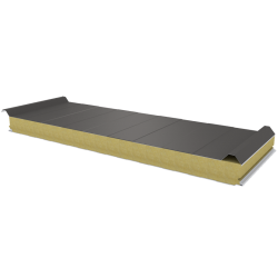 PWD-W - 75 MM, Roof panels, mineral wool RAL 9007