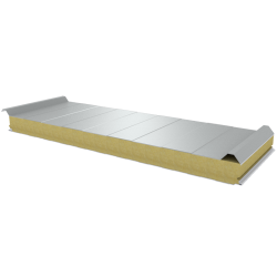 PWD-W - 75 MM, Roof panels, mineral wool RAL 9010