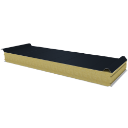 PWD-W - 100 MM, панели крыши, минеральная вата RAL 7016