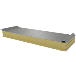 PWD-W - 100 MM, Roof panels, mineral wool RAL 7035