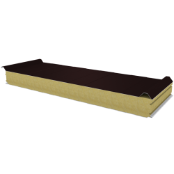 PWD-W - 100 MM, Roof panels, mineral wool RAL 8017