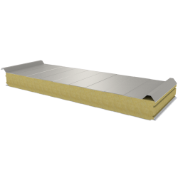 PWD-W - 100 MM, Roof panels, mineral wool RAL 9002