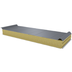 PWD-W - 100 MM, Roof panels, mineral wool RAL 9006