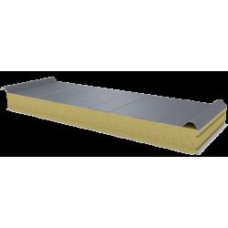 PWD-W - 100 MM, střešní panely, minerální vlna RAL 9006