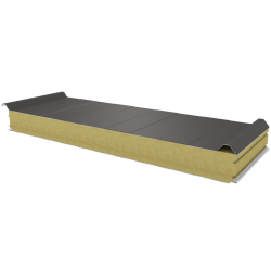 PWD-W - 100 MM, Roof panels, mineral wool RAL 9007