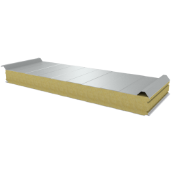 PWD-W - 100 MM, Roof panels, mineral wool RAL 9010