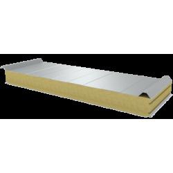 PWD-W - 100 MM, střešní panely, minerální vlna RAL 9010