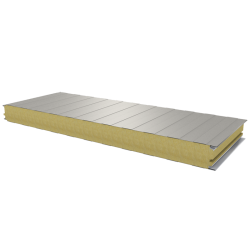 PWS-W - 75 MM, Wall panels, mineral wool RAL 9002