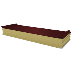 PWD-W - 125 MM, Roof panels, mineral wool RAL 3009