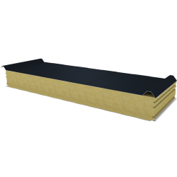 PWD-W - 125 MM, Roof panels, mineral wool RAL 7016