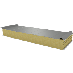 PWD-W - 125 MM, Roof panels, mineral wool RAL 7035