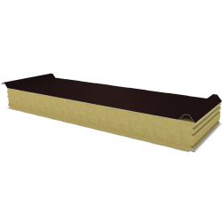 PWD-W - 125 MM, Roof panels, mineral wool RAL 8017