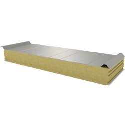 PWD-W - 125 MM, Roof panels, mineral wool RAL 9002