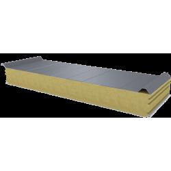 PWD-W - 125 MM, střešní panely, minerální vlna RAL 9006