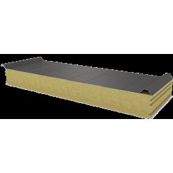 PWD-W - 125 MM, střešní panely, minerální vlna RAL 9007