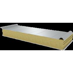 PWD-W - 125 MM, панели крыши, минеральная вата RAL 9010
