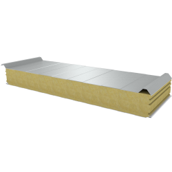 PWD-W - 125 MM, Roof panels, mineral wool RAL 9010