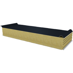 PWD-W - 150 MM, Roof panels, mineral wool RAL 7016