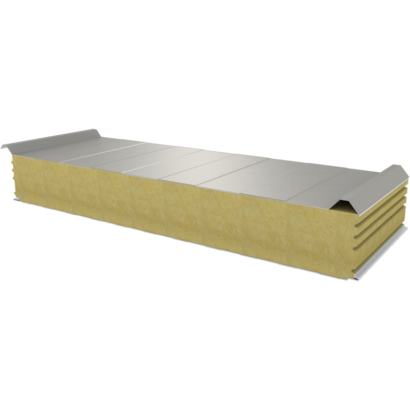 PWD-W - 150 MM, панели крыши, минеральная вата RAL 9006