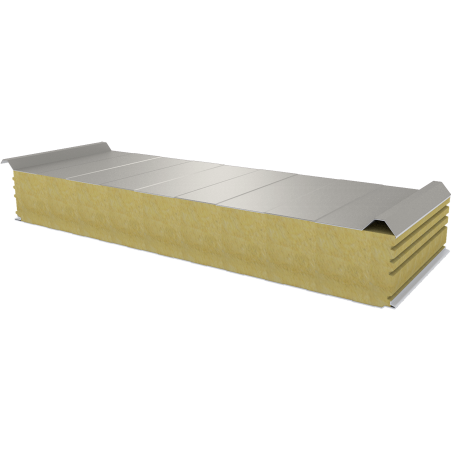 PWD-W - 150 MM, střešní panely, minerální vlna RAL 9002