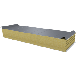 PWD-W - 150 MM, Roof panels, mineral wool RAL 9006