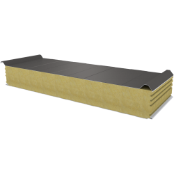PWD-W - 150 MM, Roof panels, mineral wool RAL 9007