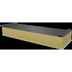 PWD-W - 150 MM, střešní panely, minerální vlna RAL 9007