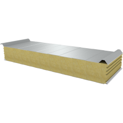 PWD-W - 150 MM, Roof panels, mineral wool RAL 9010