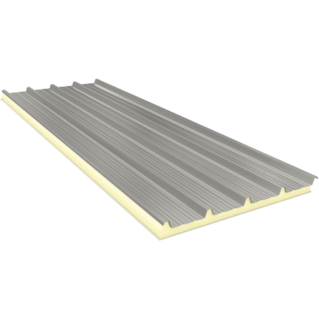 AGRO 80 mm - Fiberglass, roof sandwich panels RAL 9002
