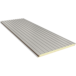 FN 60 mm - concealed joint, wall sandwich panels RAL 9002