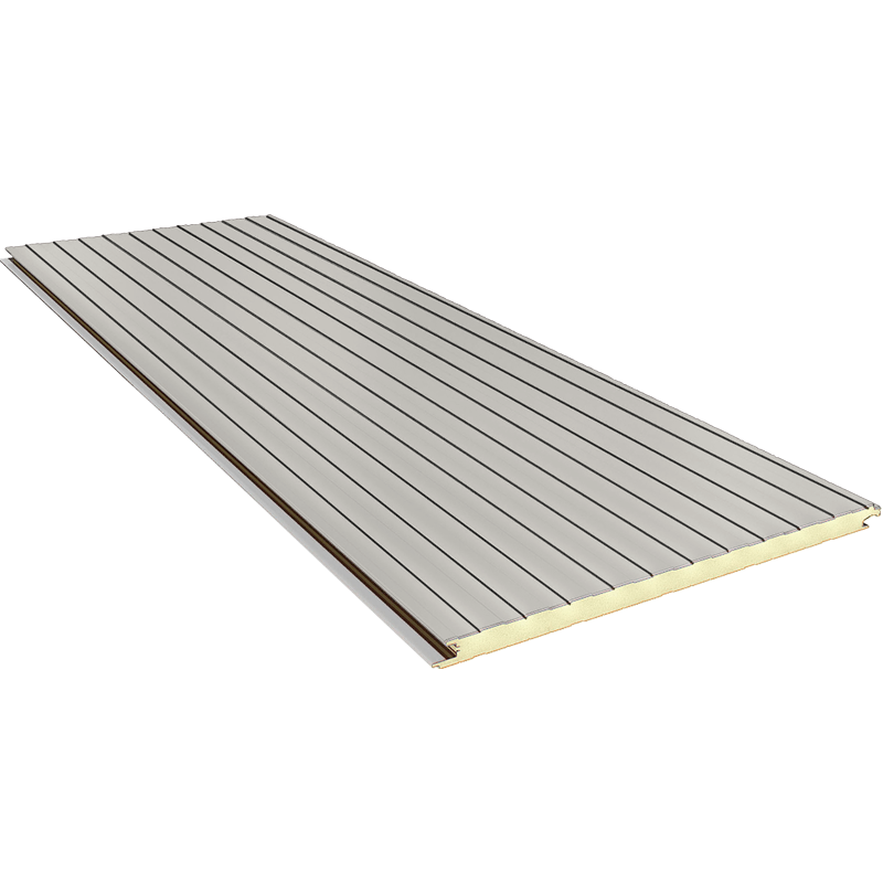 FN 100 mm - concealed joint, wall sandwich panels RAL 9002