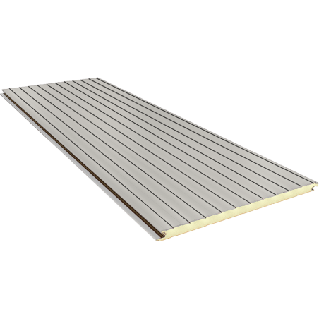 FN 120 mm - concealed joint, wall sandwich panels RAL 9002