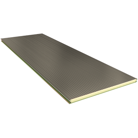 PGB 40 mm - wall panels, visible fixing RAL 9002