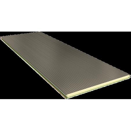 PGB 80 mm - płyty ścienne, mocowanie widoczne RAL 9002