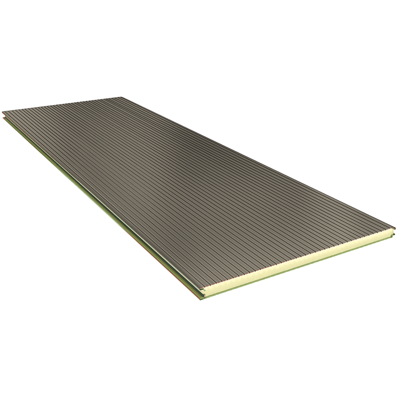 PGB 120 mm - nástěnné panely, viditelné upevnění RAL 9002